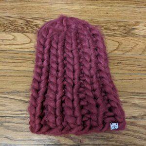 Volcom Women's Knitted Raspberry Beanie Hat
